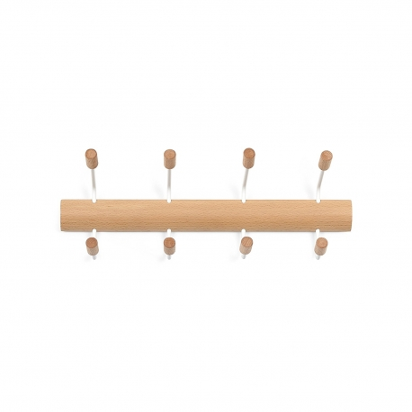 Perchero de pared de estilo Umbra Pogo 4 gancho, blanco/natural .