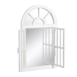 Espejo ventana blanco rozado 54 x 4 x 91 cm