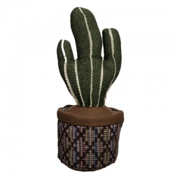 Tope de puerta cactus verde tejido .
