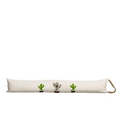 Corta viento cactus crema-verde tejido 83 x 5 x 15 cm .