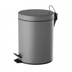 Papelera gris metal 20,50 x 26,50 x 27,50 cm capacidad: 5 litros.