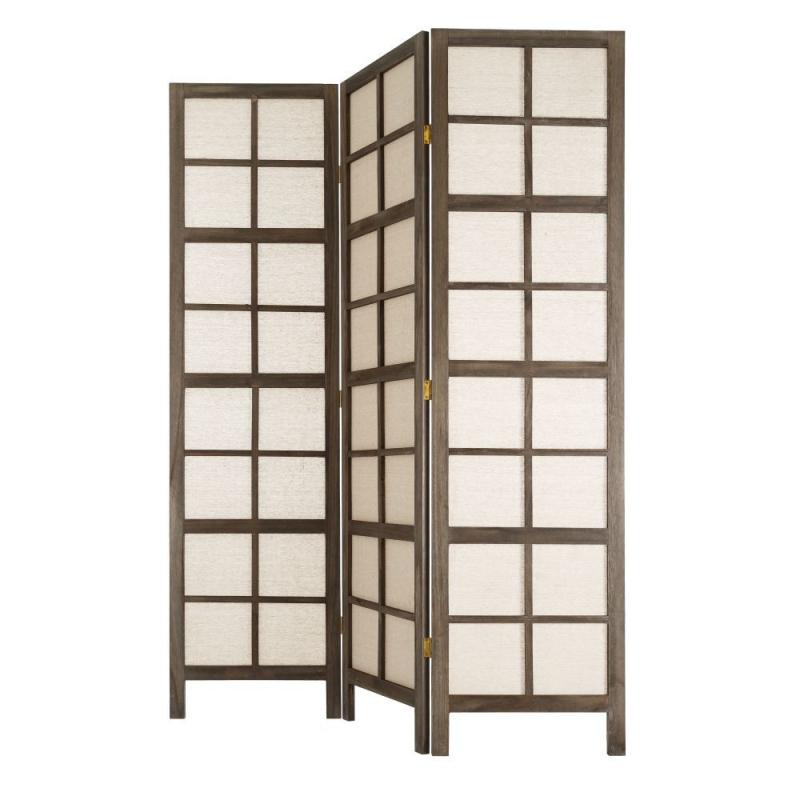 biombo plegable oriental marrn de madera para dormitorio sol naciente