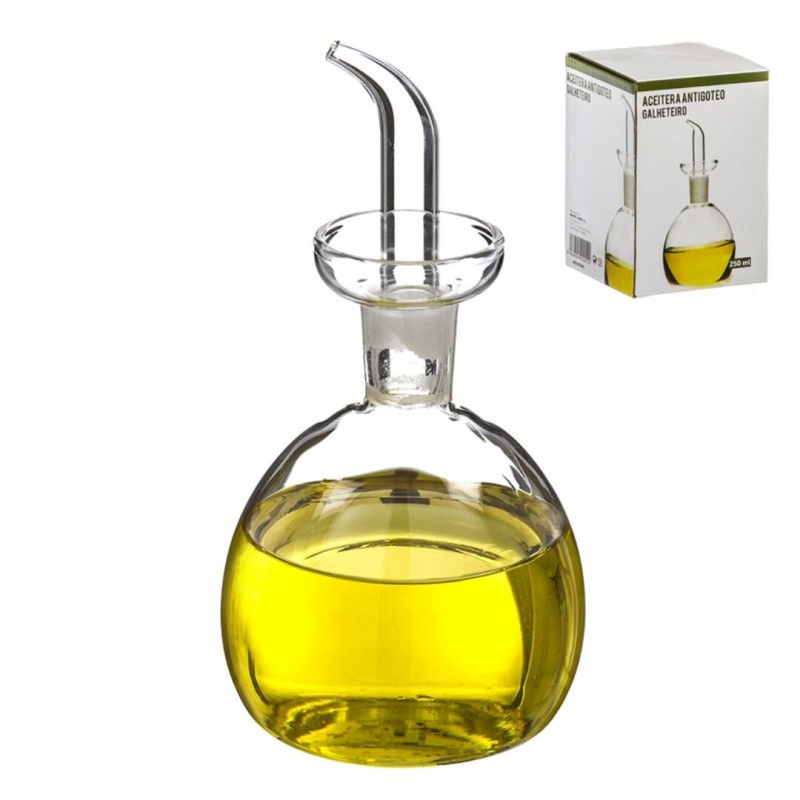 Aceitera de cristal antigoteo 250 ml en caja dcasa - Aceiteras de cristal ...