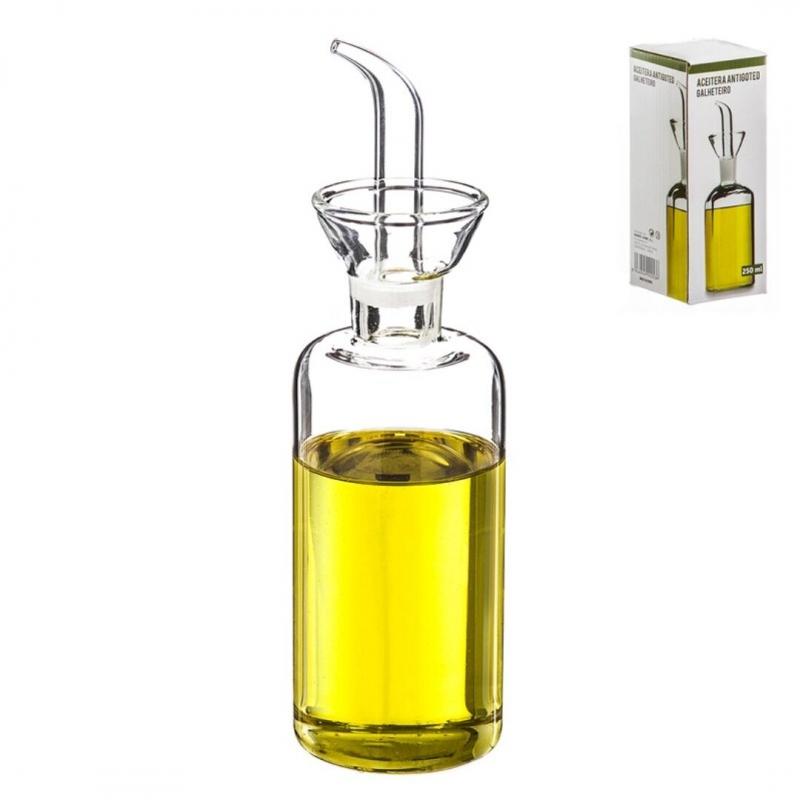 Aceitera de cristal antigoteo 250 ml en caja dcasa - Aceitera antigoteo ...