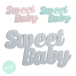 Letras madera decorativas infantil Sweet baby color.