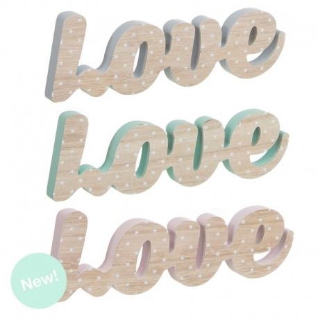 Letras madera decorativas infantil love - Letras de madera decorativas ...