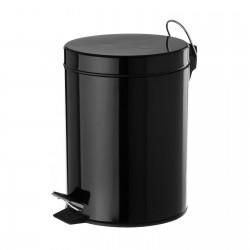 Papelera negro metal 20,50 x 26,50 x 27,50 cm capacidad: 5 litros.