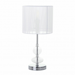 Lámpara de sobremesa moderna plateada de metal para salón Fantasy