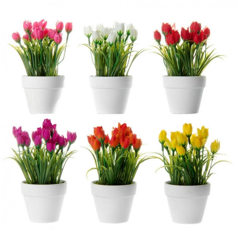 Set 6 planta tulip n poliester en maceta de terracota - Macetas de terracota ...