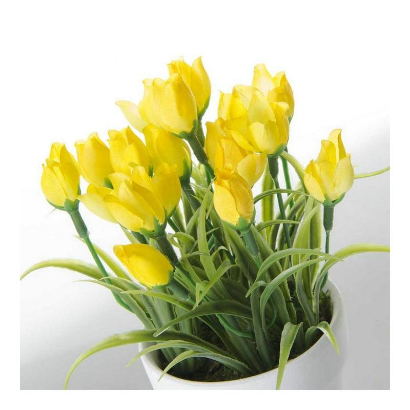 set 6 planta tulipán poliester en maceta de terracota.| dcasa.es