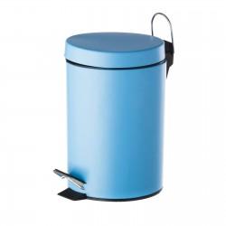 Papelera azul metal 20 x 17 x 26 cm capacidad: 3 litros.