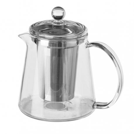 Tetera con filtro moderna transparente de cristal para cocina Basic