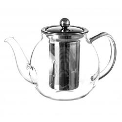 Tetera de 1 litro moderna transparente de cristal para cocina Basic