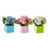 Pack 3 hortensia artificial maceta de papel.