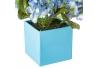 Pack 3 hortensia artificial maceta de plástico.