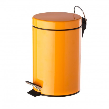 Papelera naranja metal 17 x 23 x 25,50 cm capacidad: 3 litros.