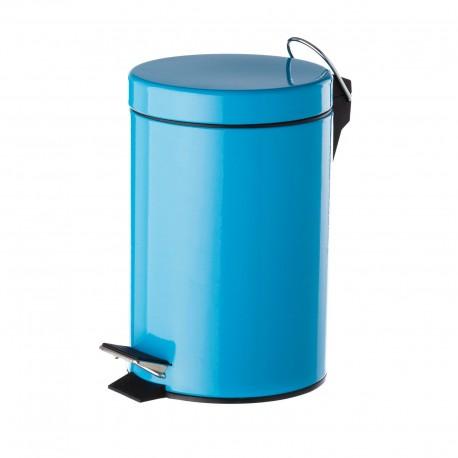 Papelera azul metal 17 x 23 x 25,50 cm capacidad: 3 litros.