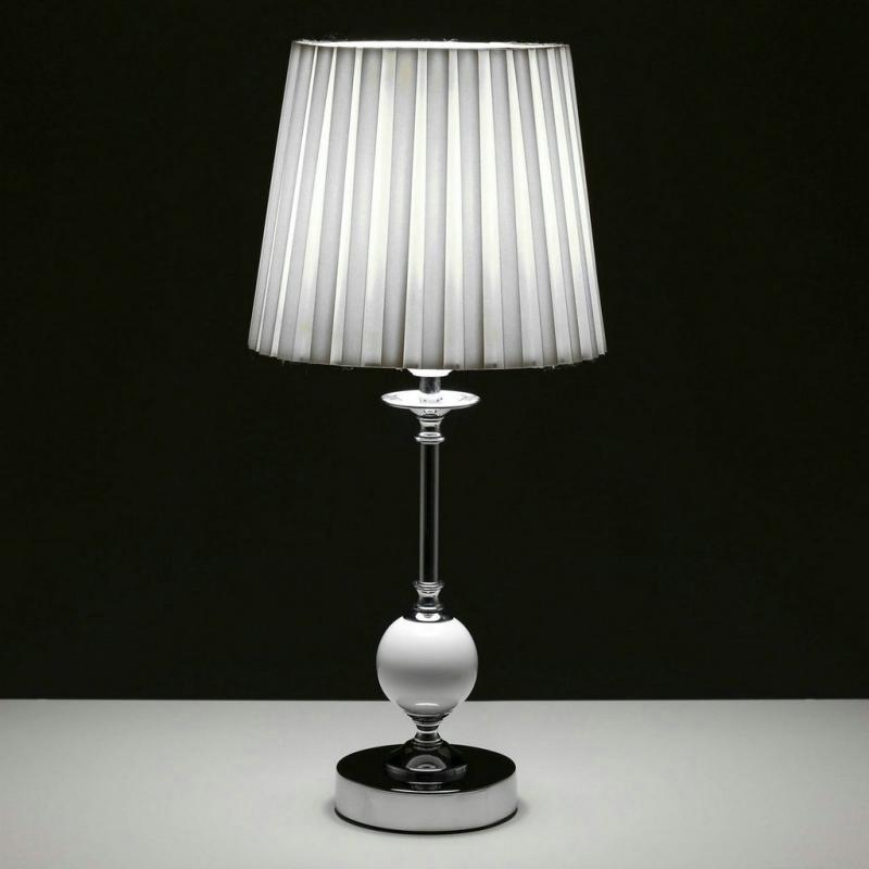 l mpara de mesa rabe blanca de metal para dormitorio