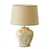 Lámpara de mesita de noche clásica beige de cerámica para decoración Bretaña