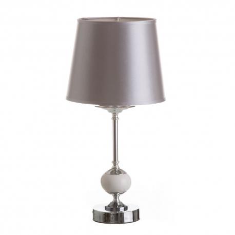 Lámpara de sobremesa moderna plateada de porcelana para dormitorio Arabia