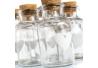 Botella corazón cristal 5,70 x 5,70 x 11,10 cm tapón de corcho. ( Pack 9 botellas )