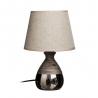 Lámpara mesa plata cerámica-tejido 20 x 20 x 29,50 cm