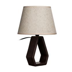 Lámpara mesa ceramica marrón 22,50 x 22,50 x 32 cm