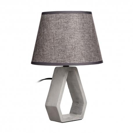 Lámpara mesa gris cerámica 22,50 x 22,50 x 32 cm