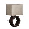 Lámpara mesa marron cerámica 22,50 x 22,50 x 32 cm
