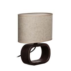 Lámpara de mesita de noche moderna marron de cerámica para decoración Bretaña