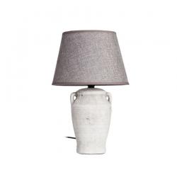 Lámpara mesa gris envejecido 22,50 x 22,50 x 36 cm
