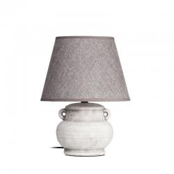 Lámpara mesa gris envejecido 25 x 25 x 32 cm .