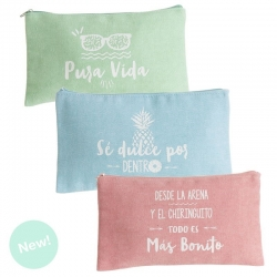 Neceser portalapices summer con frases colores .
