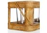 Cesta portavelas oro antiguo 21 x 12,20 x 11 cm .