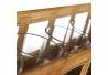 Cesta portavelas oro antiguo 44 x 12,20 x 11 cm .