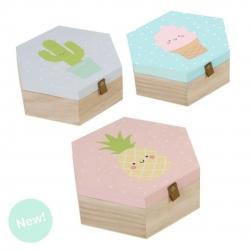 Juego de 3 cajas madera diseño Infantiles .