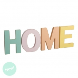 Letras madera decorativas HOME color.