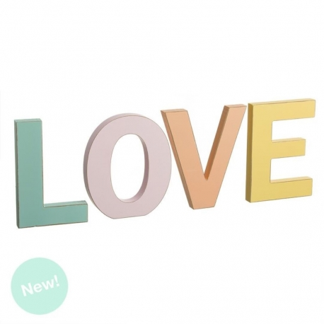 Letras madera decorativas LOVE color.