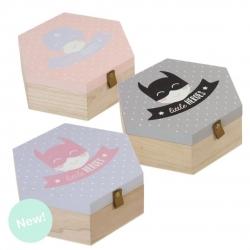 Juego de 3 cajas madera diseño Infantiles heroes .