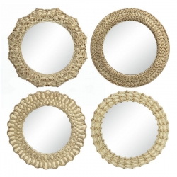 Espejos de pared árabes beige de resina para decoración de 21 cm Vitta