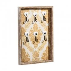 Mural pared cuelga llaves de madera natural .