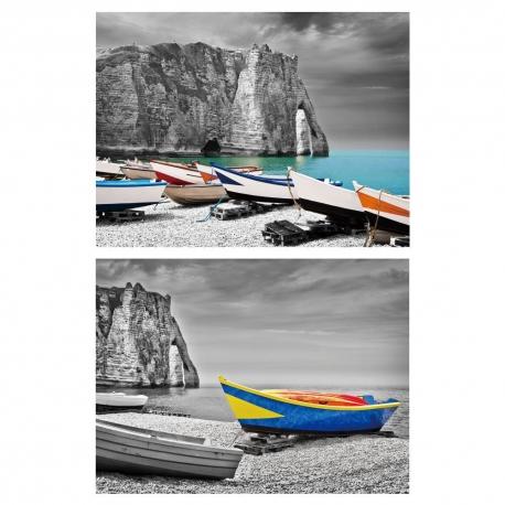 Set 2 cuadro fotoimpresión 2/m lienzo 80 x 3 x 60 cm .