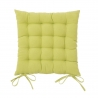 Cojín de 40x40 moderno verde de algodón / poliéster para salón Bretaña