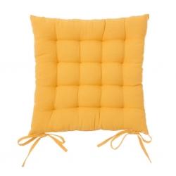 Cojín de 40x40 moderno amarillo de algodón / poliéster para salón Iris