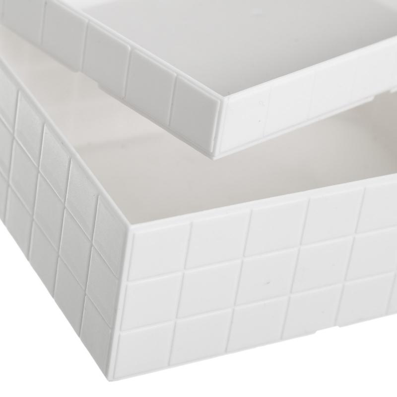 Organizador con tapa blanco abs para cuarto de baño .|dcasa.es