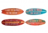 Decoracion cuadro madera surf 15x48 cm ( Set 4 cuadro )