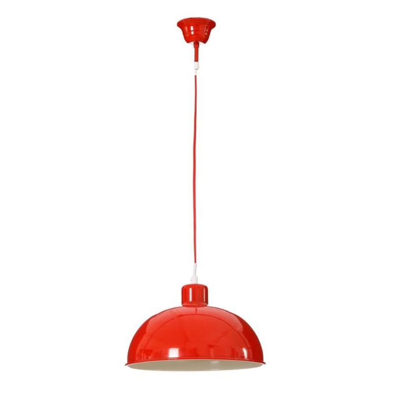 L mpara de techo vintage roja de metal para cocina fantasy - Lamparas cocina techo ...