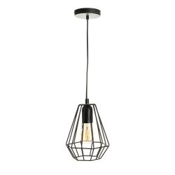 Lámpara de techo industrial negra de metal para dormitorio Factory