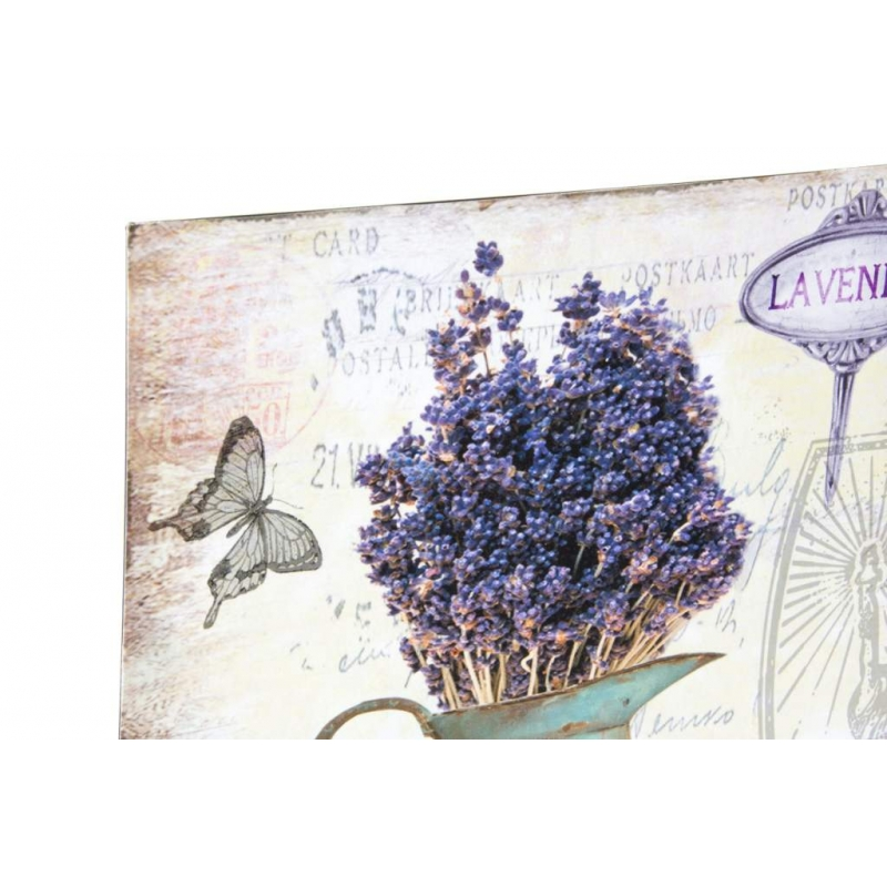 Decoracion pared metal lavanda 30x30 set 4 pieza for Adornos pared metal