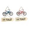 Cartel decorativo para puertas lavabos bici .